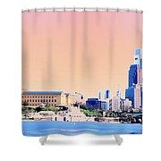 Philadelphia Panoramic Shower Curtain