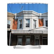Philadelphia Row Houses Shower Curtain