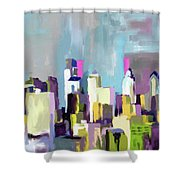 Philadelphia Skyline 650 1 Shower Curtain