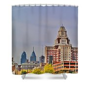 Philadelphia Skyline From Camden Waterfront Shower Curtain