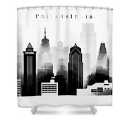 Philadelphia Skyline Graphic Work Shower Curtain