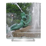 Philadelphia - Swann Memorial Fountain - Logan Square Shower Curtain