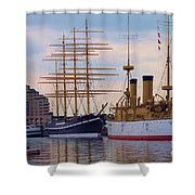 Philadelphia Waterfront Olympia Shower Curtain