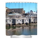 Philadelphia Waterworks And Art Museum Panorama Shower Curtain