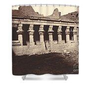 Philae, Cour Int?rieure, Colonnade De L'ouest Shower Curtain