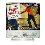 Philip Morris Cigarette Ad Shower Curtain