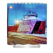 Philip R.clarke West Pier Sault Ste.marie Michigan -3124 Shower Curtain