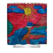 Philippine Kingfisher Painting Contest 4 Shower Curtain