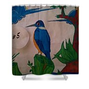 Philippine Kingfisher Painting Contest 6 Shower Curtain