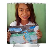 Philippine Kingfisher Painting Contest 7 Shower Curtain