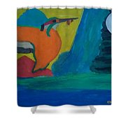Philippine Kingfisher Painting Contest2 Shower Curtain