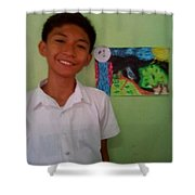 Philippine Kingfisher Painting Contest3 Shower Curtain