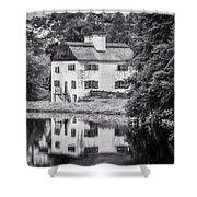 Philipsburg Manor House - Reflections - Bw Shower Curtain