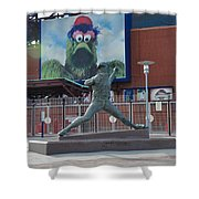 Phillies Steve Carlton Statue Shower Curtain