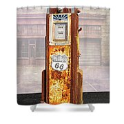 Phillips 66 Antique Gas Pump Shower Curtain