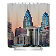 Philly At Sunset Shower Curtain
