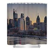 Philly Before Dawn From South Street Shower Curtain