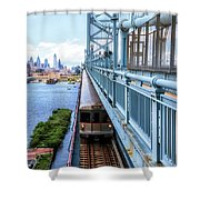 Philly From The Bridge Shower Curtain