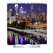 Philly In Panoramic View Shower Curtain