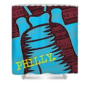 Philly Liberty Bell Shower Curtain