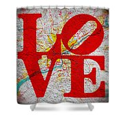Philly Love V1 Shower Curtain