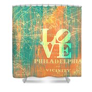 Philly Love V10 Shower Curtain