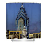 Philly Skyline-old And New Shower Curtain