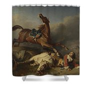 Philogene Tschaggeny   An Episode On The Field Of Battle Shower Curtain