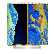 Philosopher - Socrates 2 Shower Curtain