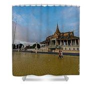 Phnom Penh Royal Palace Plaza Shower Curtain