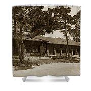 Phoebe A Hearst Social Hall Asilomar Pacific Grove Circa 1925 Shower Curtain