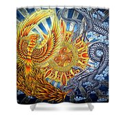 Phoenix And Dragon Shower Curtain