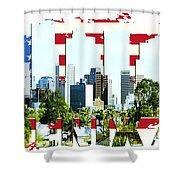 Phoenix City Skyline Shower Curtain