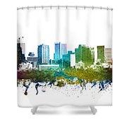 Phoenix Cityscape 01 Shower Curtain