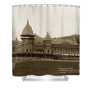 Phoenix Hotel Las Vegas Hot Springs New Mexico 1890 Shower Curtain