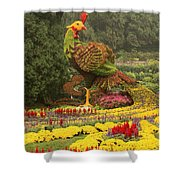 Phoenix In Summer Palace Shower Curtain