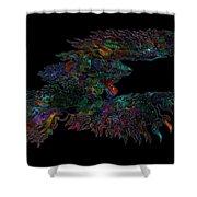 Phoenix Rising Galaxy Shower Curtain