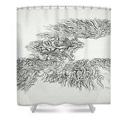 Phoenix Rising Sketch Shower Curtain