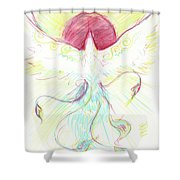 Phoenix Sun Shower Curtain