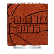Phoenix Suns Leather Art Shower Curtain