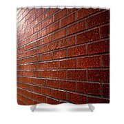 Photo Graphics - Brick Wall Eruption Shower Curtain