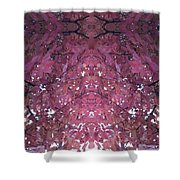 Photo 0800 Autumn Tree Leaves Fractal  E1 Mid Top  Shower Curtain