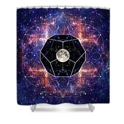 Photo Of The Moon And Sacred Geometry Shower Curtain