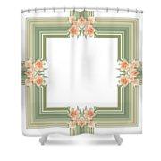 Photoart Orange Flowers-1 Shower Curtain