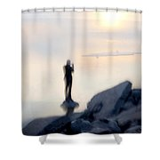 Photographer And Sea Shower Curtain
