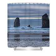 Photographer At Cannon Beach Shower Curtain