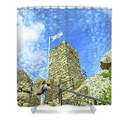 Photographer At Moorish Fortress Shower Curtain
