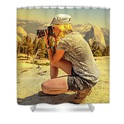 Photographer On Sentinel Dome Shower Curtain