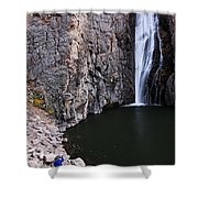 Photographing Porcupine Falls Shower Curtain