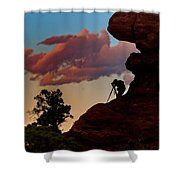 Photographing The Landscape Shower Curtain